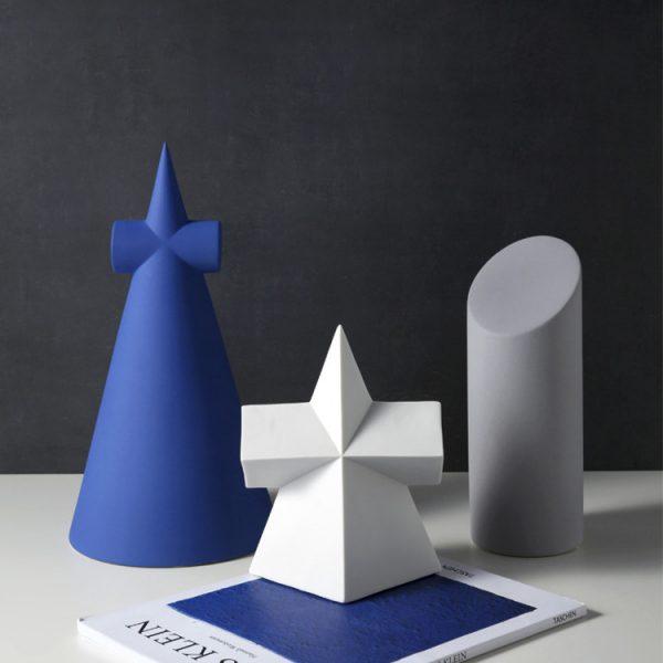 1JC21001 Desktop Ornament Gypsum Geometric Model (1)