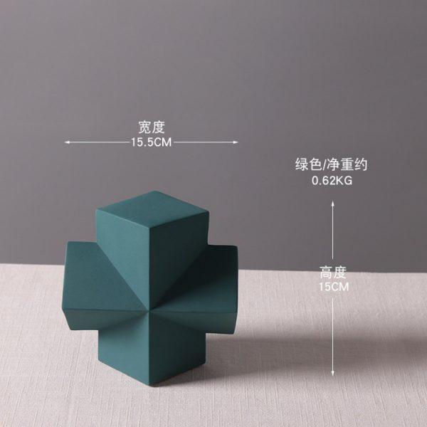 1JC21001 Desktop Ornament Gypsum Geometric Model (10)