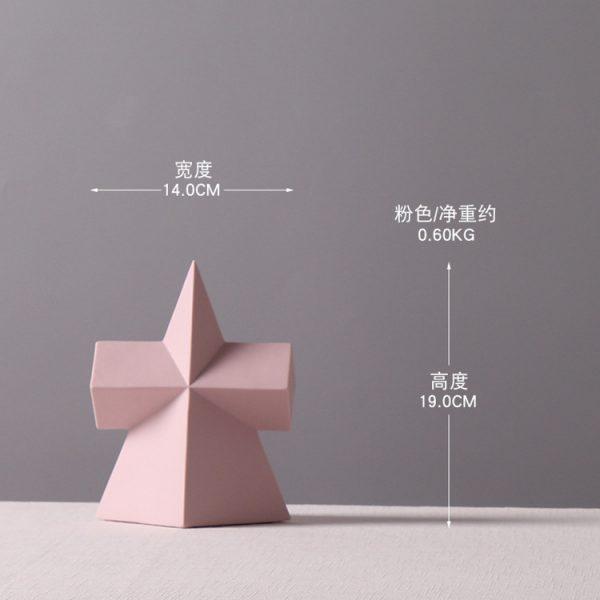 1JC21001 Desktop Ornament Gypsum Geometric Model (11)