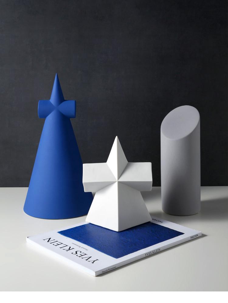 1JC21001 Desktop Ornament Gypsum Geometric Model (14)