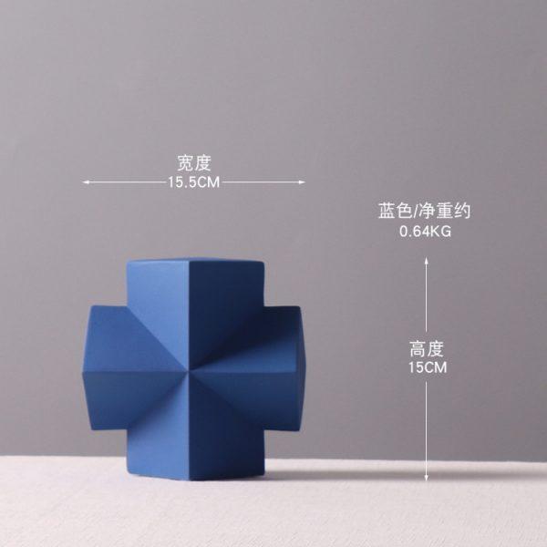 1JC21001 Desktop Ornament Gypsum Geometric Model (9)