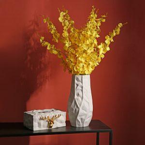 1JC21024 White Ceramic Flower Vase China Supplier (2)