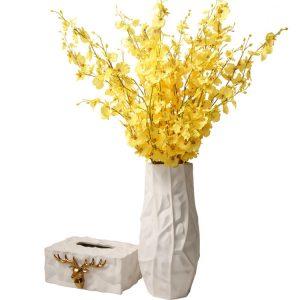 1JC21024 White Ceramic Flower Vase China Supplier (3)