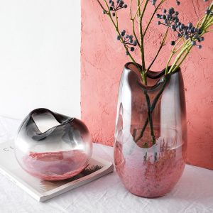 1JC21030 Blush Pink Glass Vase Sale (1)