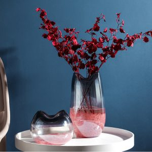 1JC21030 Blush Pink Glass Vase Sale (2)
