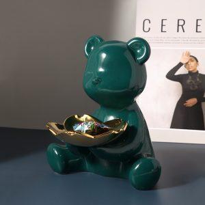 1JC21064 Teddy Bear Statue Table Decoration Sale (2)
