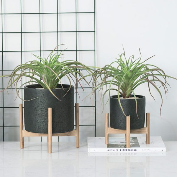 1JC21073 Wood Stand Flower Pot China Factory (1)