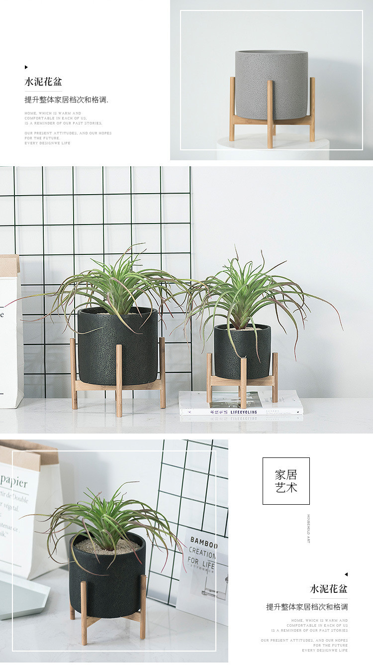 1JC21073 Wood Stand Flower Pot China Factory (10)