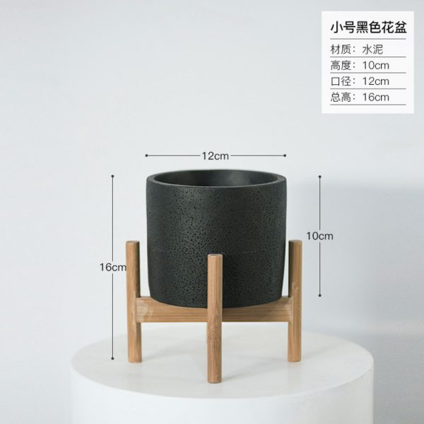 1JC21073 Wood Stand Flower Pot China Factory (17)