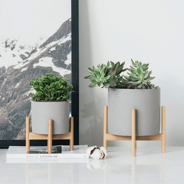 1JC21073 Wood Stand Flower Pot China Factory (3)