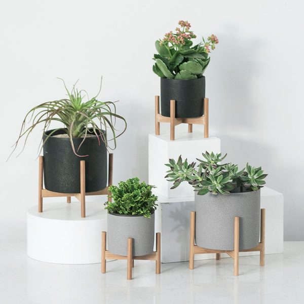 1JC21073 Wood Stand Flower Pot China Factory (4)