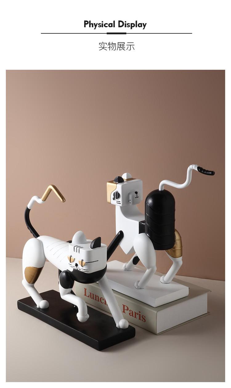 1JC21083 Statue De Chat Resin Cat (10)