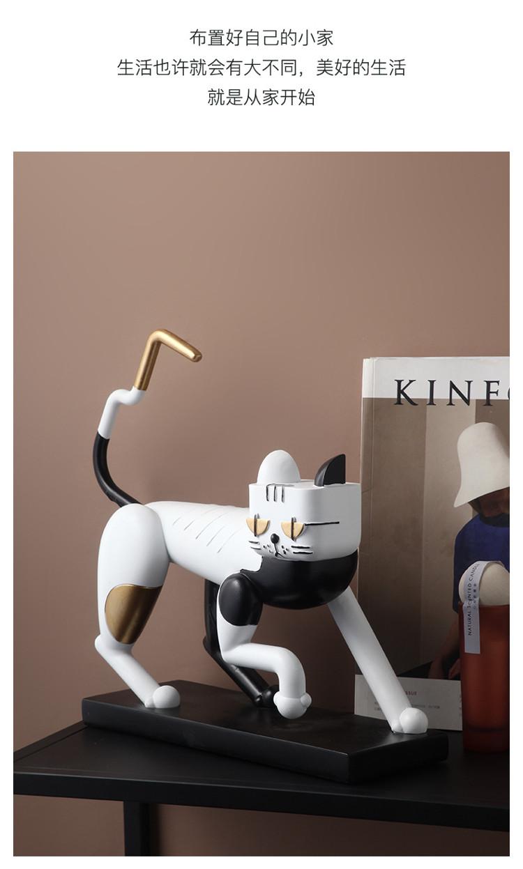 1JC21083 Statue De Chat Resin Cat (13)