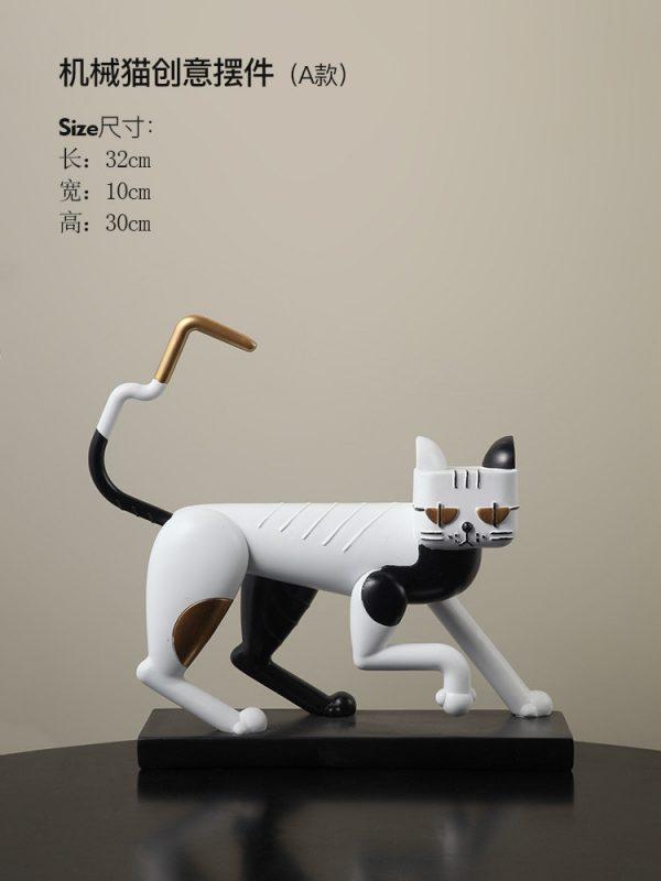 1JC21083 Statue De Chat Resin Cat (18)