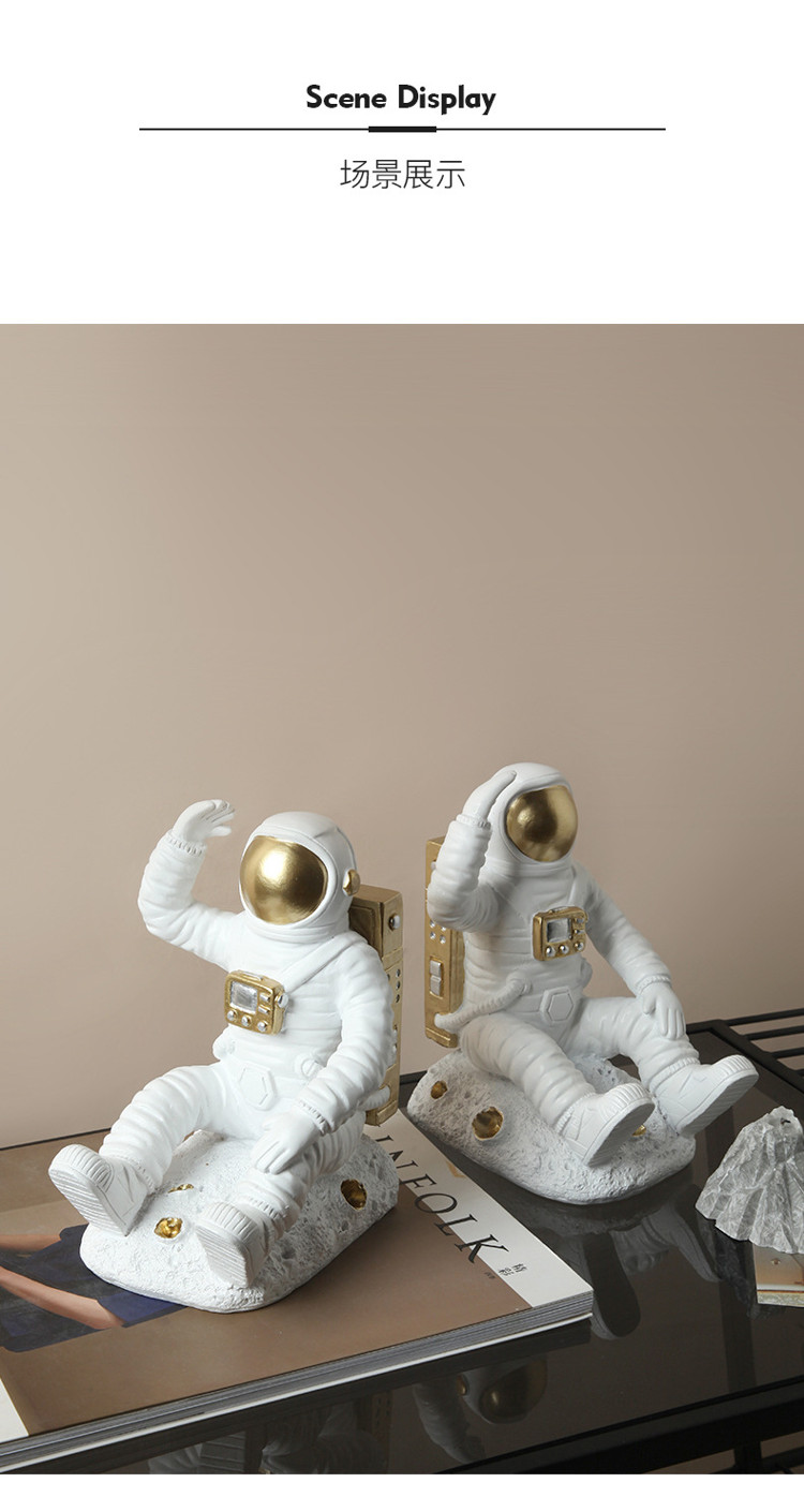 1JC21085 Astronaut Bookends China Factory Online Sale (10)
