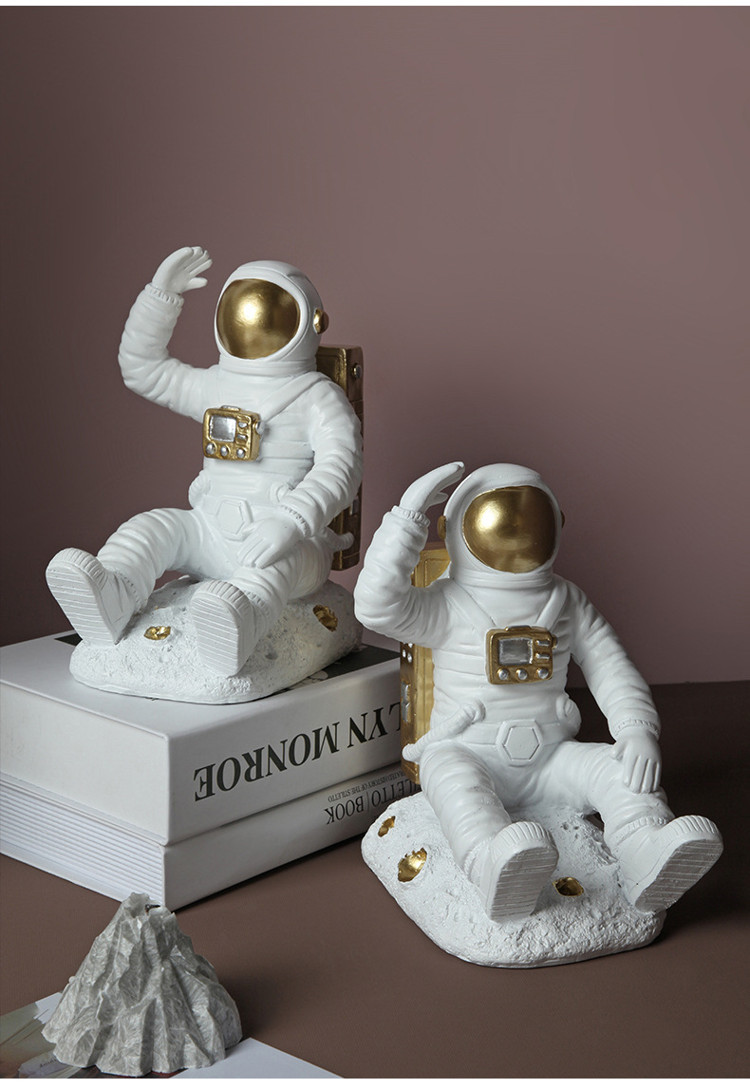 1JC21085 Astronaut Bookends China Factory Online Sale (7)