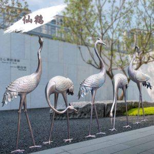 1K107001 Crane Garden Statue Stainless Steel (4)