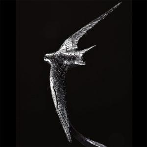 1JA19005 Swallow Statue Bronze Material (1)