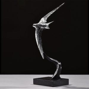 1JA19005 Swallow Statue Bronze Material (2)