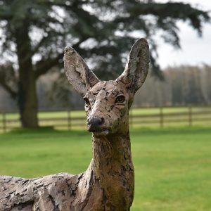 1JA19007 Bronze Deer Statues Garden Maker (5)