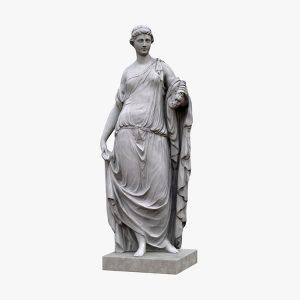 1K810002 Scultura Romanica Flora Statue (2)