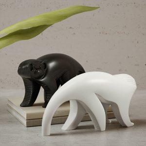 1K820002 Scultura Ceramica Scimmia (1)