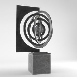 1K824002 Large Contemporary Sculptures Metal (1)