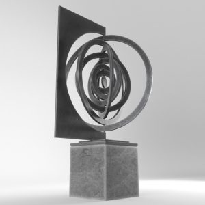 1K824002 Large Contemporary Sculptures Metal (2)