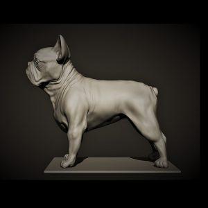 1I801011 French Bulldog Garden Statue Design (1)