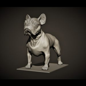 1I801011 French Bulldog Garden Statue Design (2)