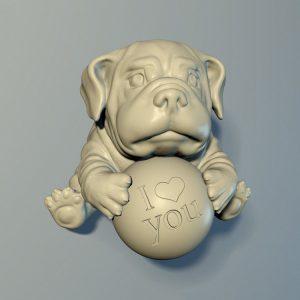1I801022 British Bulldog Statue Resin (1)