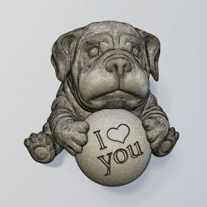 1I801022 British Bulldog Statue Resin (11)