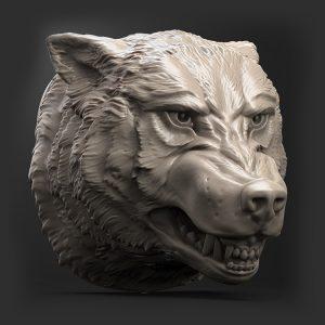 1I801034 Wolf Head Bust Wall Decor (7)