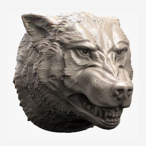 1I801034 Wolf Head Bust Wall Decor (9)