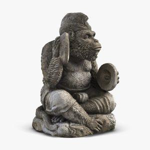 1I805005 Bali Monkey Statue Stone (1)