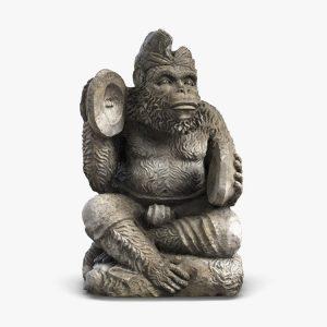1I805005 Bali Monkey Statue Stone (2)