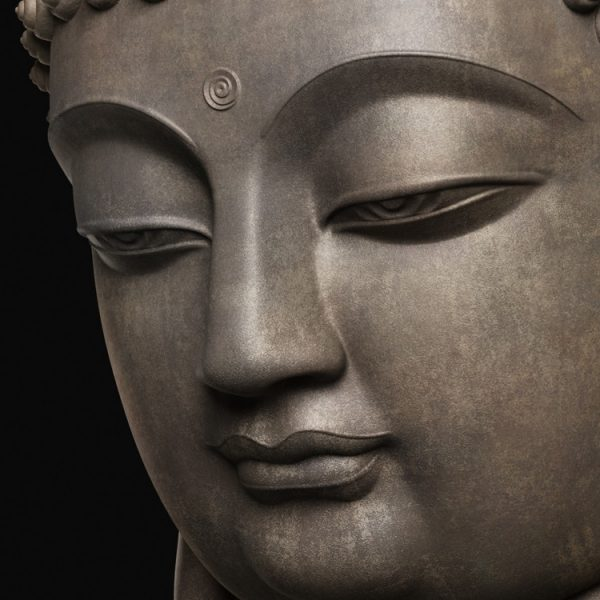 1I805008 Buddha Head Statue Bronze (7)