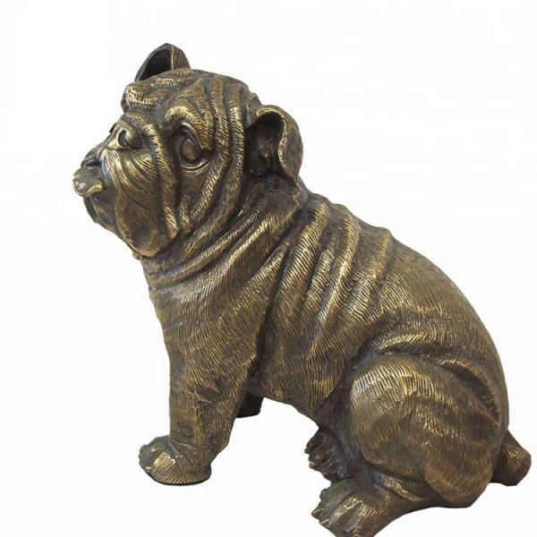 1J208014 Life Size Dog Statue Resin (1)