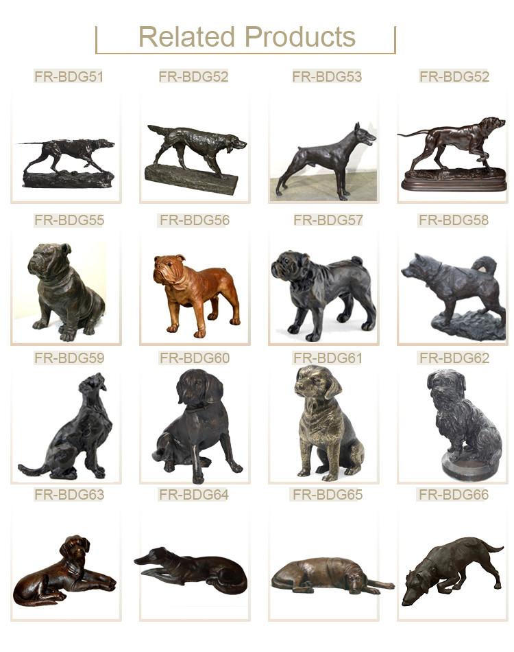 1J208014 Life Size Dog Statue Resin (6)