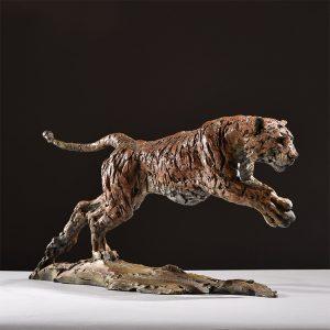 1JA16012 Tiger Statue Home Decor Bronze (4)