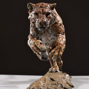 1JA16012 Tiger Statue Home Decor Bronze (6)