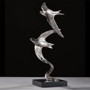1JA19002 Swift Sculpture Silver Bronze (2)