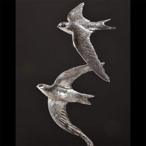 1JA19002 Swift Sculpture Silver Bronze (7)