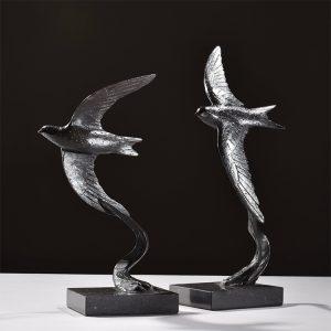 1JA19004 Swallow Sculpture Bronze China Maker (2)