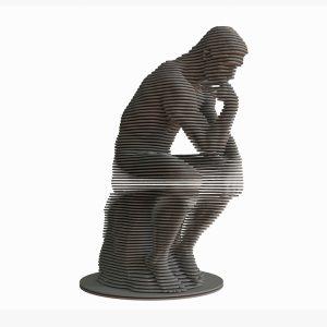 1K909002 Skulpture Od Drva Mislilac (1)