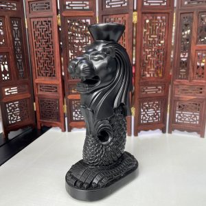 1K929001 Lion Fish Statue Resin (6)